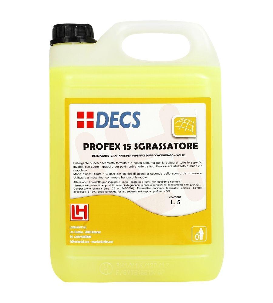 Profex 15 Sgrassatore - Superkoncetrovano mirisno sredstvo za odmašćivanje čišćenje i higijenu svih vodootpornih površina i opreme