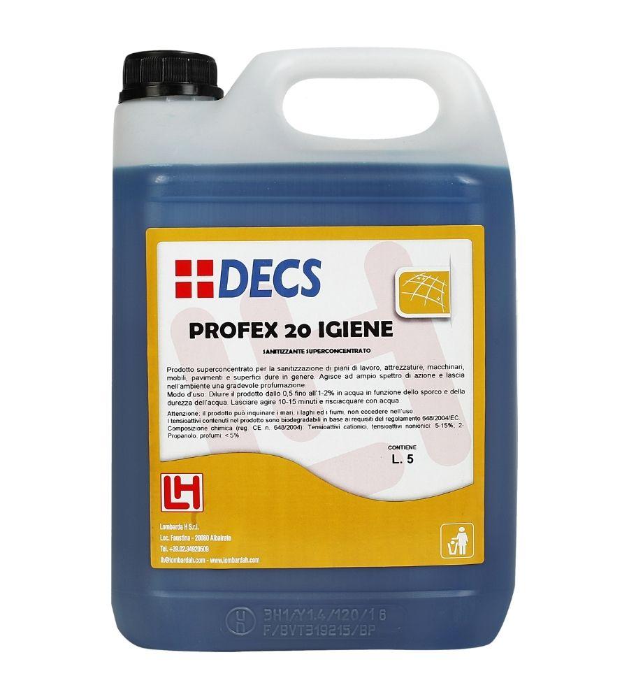 Profex 20 Igiene - Superkoncentrovano sredstvo za čišćenje i higijenu svih radnih površina, opreme i mašina