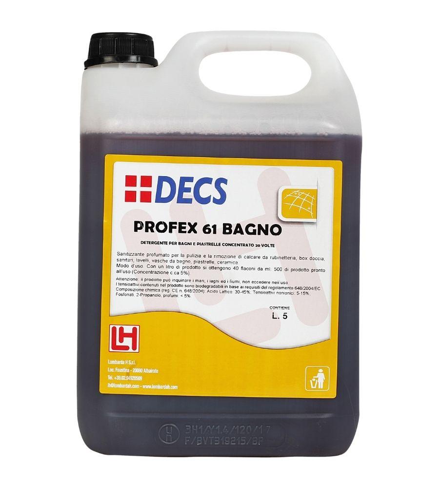 Profex 61 Bagno - Superkoncentrovano sredstvo za uklanjanje kamenca i svakodnevno čišćenje kupatila i sanitarnih površina
