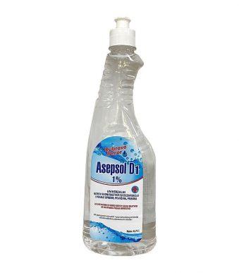 Asepsol D1 (1%) sa push-pull zatvaračem za dezinfekciju ciscenje i higijenu povrsina